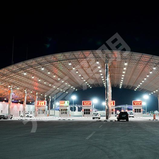 沙特阿拉伯收费站LED工矿灯照明项目