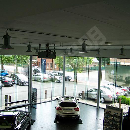 比利时奔驰4S店照明项目