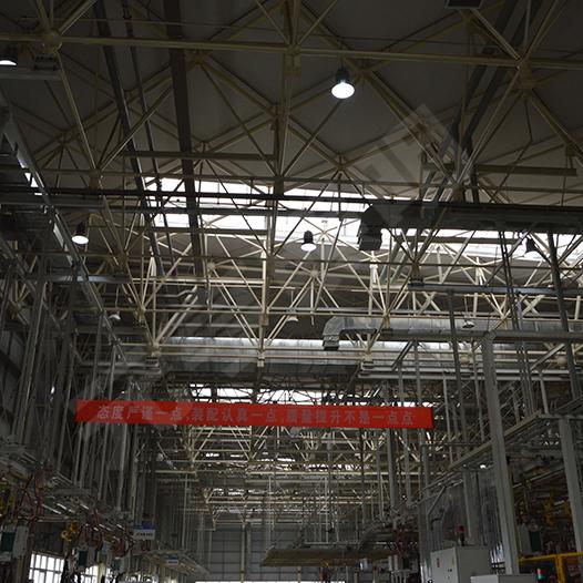 青岛一汽焊装车间LED工矿灯照明项目
